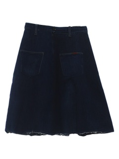 1970's Womens Denim Hippie Skirt