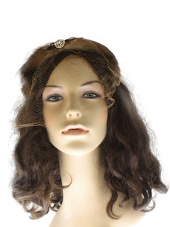 1960's Womens Accessories - Fur Half Hat