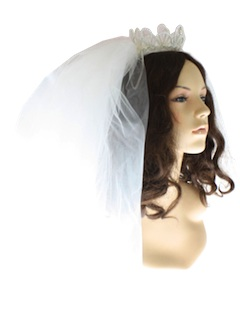 1960's Womens Accessories - Bridal Veil Hat