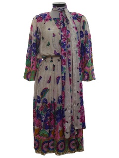 1970's Womens Silk Dress