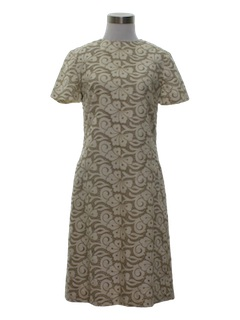 1960's Womens Embroidered Dress