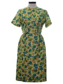 1960's Womens Print Dress