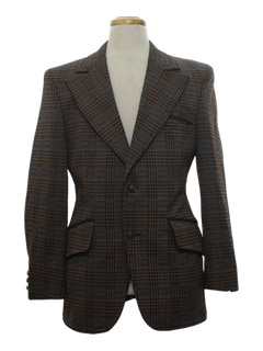 1970's Mens Disco Style Blazer Sport Coat Jacket
