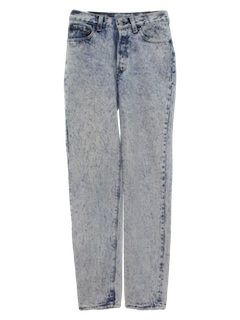 1980's Womens Levis Totally 80s Acid Washed Jeans Pants