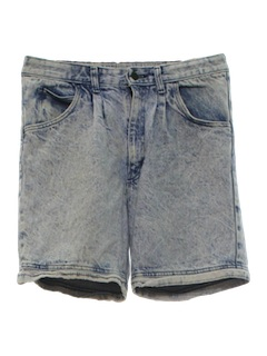 1980's Unisex Totally 80s Acid Washed Jeans Shorts