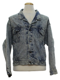 1980's Mens Totally 80s Levis Acid Wash Denim Jacket