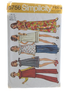 1970's Womens Maternity Pattern