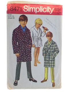 1960's Mens Boys Pattern