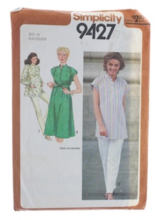 1980's Womens Maternity Pattern