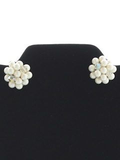 1960's Womens Accessories - Jewelry Clip Earrings