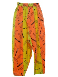 1980's Mens Totally 80s Print Hammer Baggy Pants
