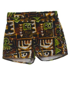 1960's Mens Mod Hawaiian Shorts