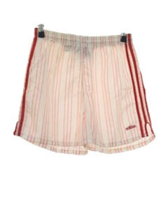 1980's Mens Totally 80s Shiny Nylon Sport Shorts