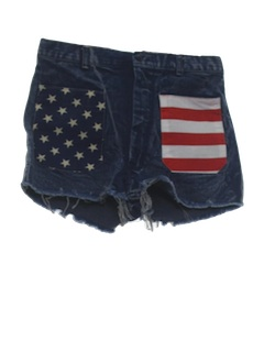 1970's Mens Hippie Cut off Denim Shorts