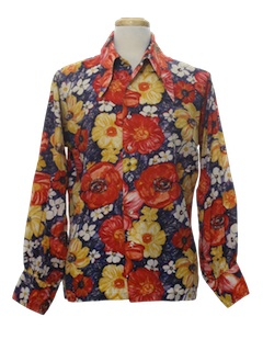 1970's Mens Hippie Style Disco Shirt