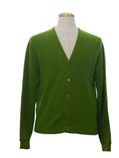 1970's Mens Golf Cardigan Sweater