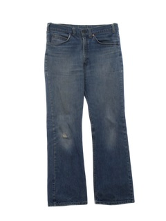 1980's Mens Flared Grunge Jeans Pants