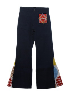 1970's Mens Mod Elephant Bellbottom Jeans Pants