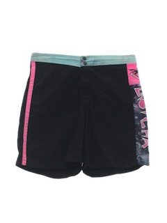 1980's Mens Neon Totally 80s Board Shorts