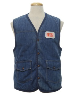 1970's Mens Denim Work Vest