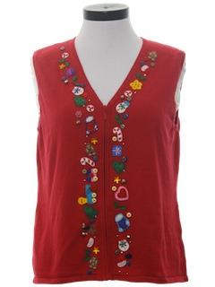 1980's Unisex Ugly Christmas Sweatshirt Vest