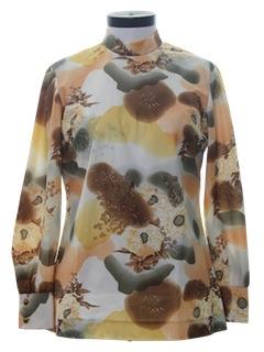 1970's Womens Mod Designer Shirt