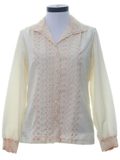 1970's Womens Embroidered Shirt