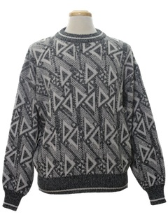 1980's Mens Designer Totally 80s Cosby Style Sweater