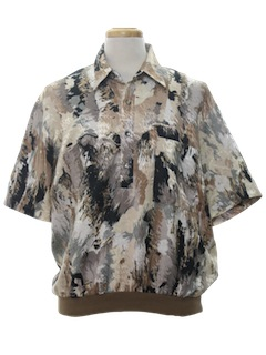 1980's Mens Resort Wear Style Print Totally 80s Shirt