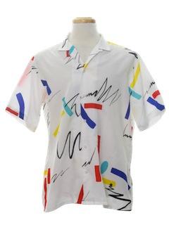 1980's Mens Totally 80s Sport Shirt