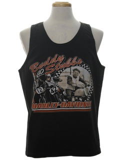 1990's Unisex Harley Muscle Tank Top Motorcycle T-Shirt