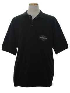 1990's Unisex Harley Motorcycle Polo Shirt