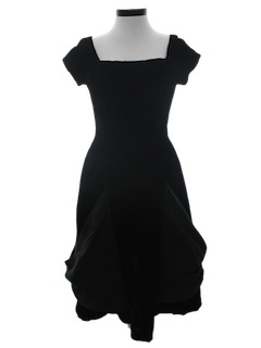 1950's Womens Little Black Fab Fifties Cocktail Dress