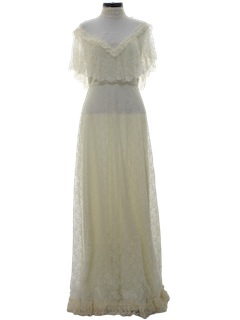 1970's Womens Prom or Wedding Dress