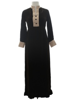 1960's Womens Mod Cocktail Maxi Dress