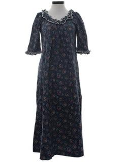 1960's Womens A-Line Maxi Dress