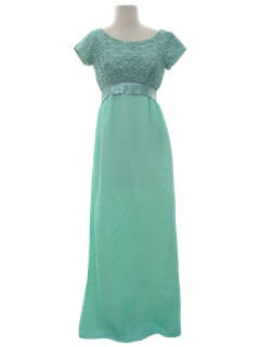 1960's Womens Prom/Cocktail Maxi Dress