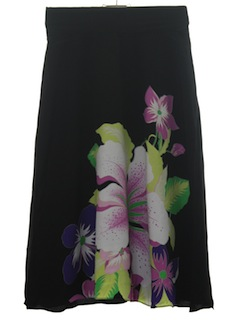 1980's Womens Hawaiian Skirt