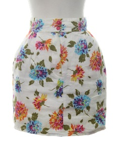 1980's Womens Totally 80s Mini Skirt