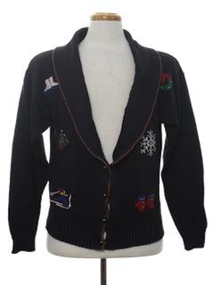 1980's Unisex Ugly Christmas Cardigan Sweater