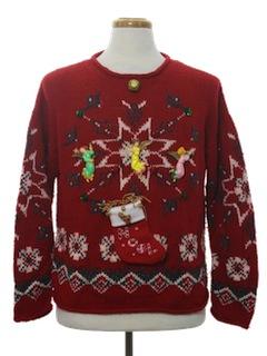 1980's Unisex Hand Embellished Ugly Christmas Sweater