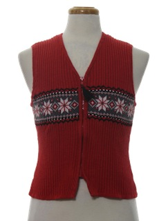 1980's Womens or Girls Minimalist Ugly Christmas Sweater Vest