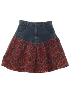 1980's Womens Mini Skirt