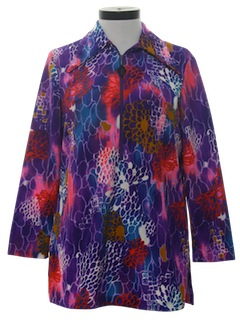 1970's Womens Micro Mini Dress or Tunic Shirt