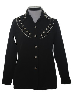 1970's Womens Studded Western Leisure Shirt Jacket