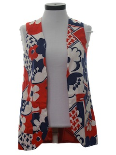 1970's Womens Pow-Flower Hippie Vest