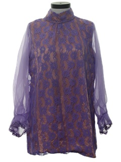 1970's Womens Tunic Top or Micro Mini Dress