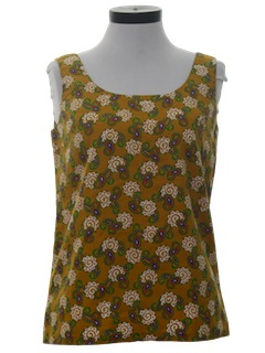1960's Womens Mod Tank Top Shirt