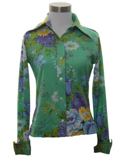 1960's Womens Pow-Flower Hippie Shirt