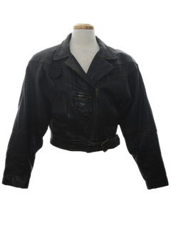 1980's Womens Totally 80s Motorcycle Style Biker Jacket
